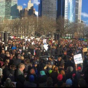 Public demonstrations opposing Executive Order banning travel from selected Muslim-majority countries