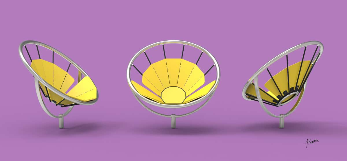 To Facilitate Maximum Comfort U2013 Physical And Social U2013 Flower Chair Swivels  180 Degrees, Empowering Sitters To Survey The Best View, Change Their  Position In ...