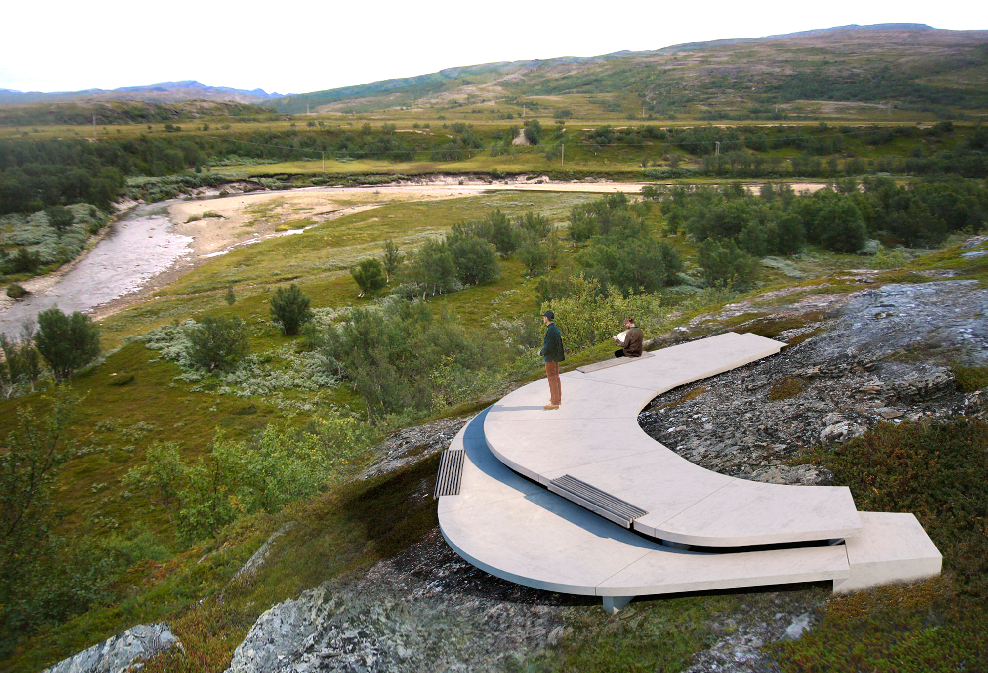 Storberget Viewpoint and Rest Stop Area by Pushak u00ab Landscape Architecture Works | Landezine