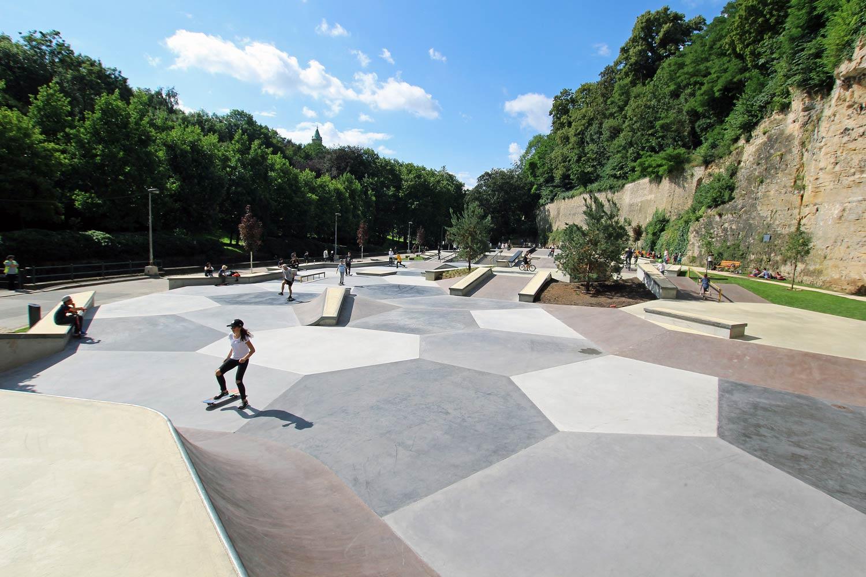 skatepark peitruss luxembourg by constructo skatepark architecture