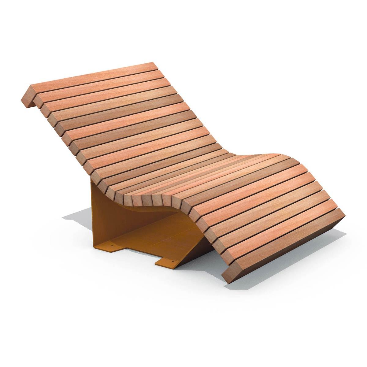 Solid serif chaise longue landscape architecture works for Chaise longue nl