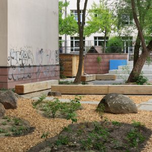Green Classroom at Galilei Primary School Berlin by gruppe F